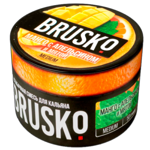 Бестабачная-смесь-Brusko-Апельсиновый-манго-с-мятой