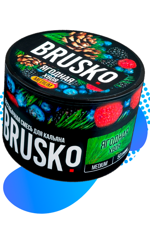 Бестабачная смесь для кальяна Brusko оптом