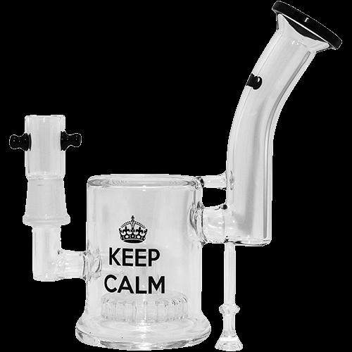Бонг стекло Greengo h 180мм Keep Calm HY13 27