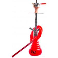 Кальян Amy Deluxe 4-Star 410 (b-rd) Колба Красная Шахта Черный хром h=55 см