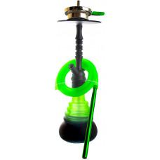 Кальян Amy Deluxe 4-Star 420 (psmbk-gr) Колба Зеленая Шахта Чёрная h=53 см