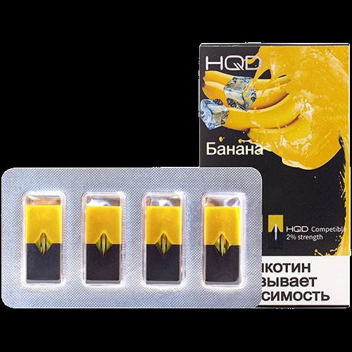Картридж JULL - HQD Банана 4 шт 0/7 мл