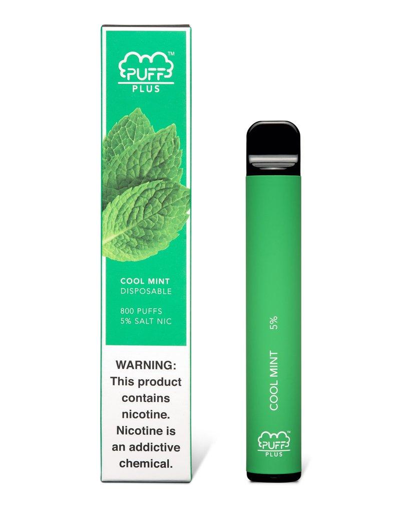 Puff Bar Plus одноразовый POD Cool Mint 5% (50 мг)