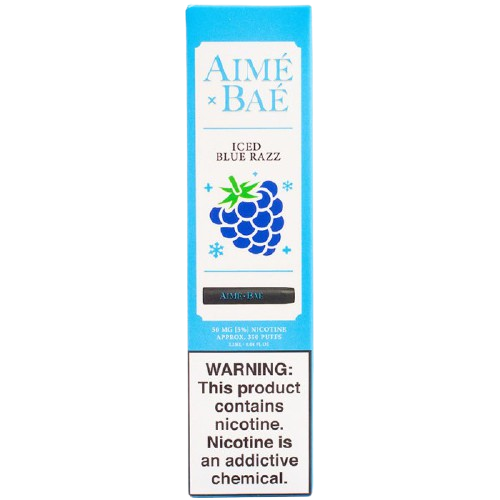 Одноразовый Вейп AIME X BAE Iced Blue Razz 5%